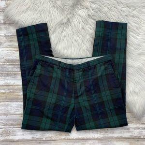 Topman Green Plaid Skinny Pants